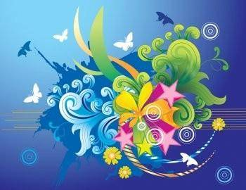 Beautiful Vector Paradise Wallpaper Design, Vector Paradise EPS Illustrator