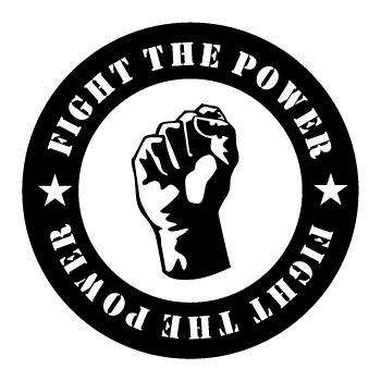 Fight The Power Vector Sticker