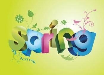 free vector Spring Fun Text Vector EPS