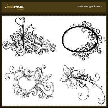 free vector Hand drawn vectors