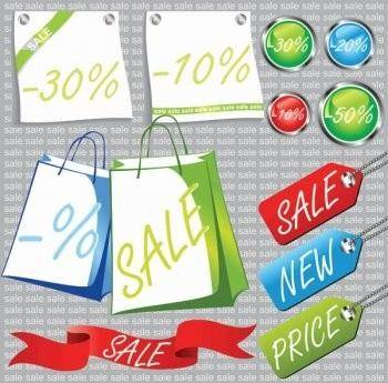free vector Promotional sale tag vector