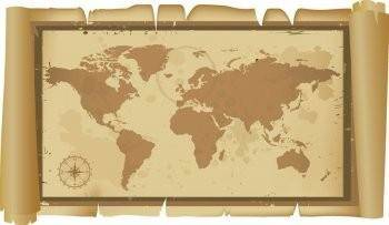 free vector Old and classic world map