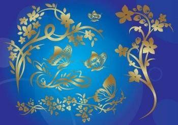 Gold Nature Vector EPS Illustrator Design