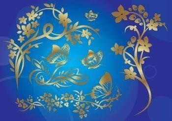 free vector Gold Nature Vector EPS Illustrator Design