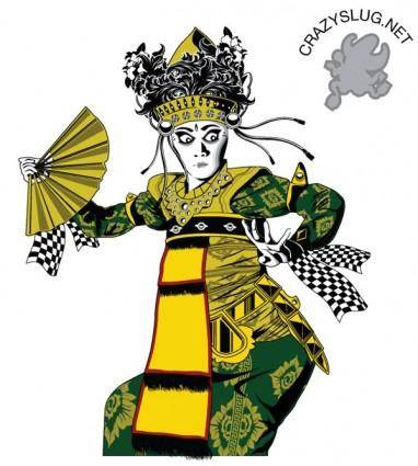 free vector Balinese Dancer