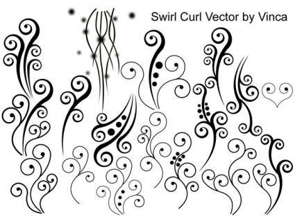 free vector Swirl Curly Vector