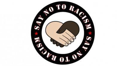 free vector Say No to Racism Vector Sticker