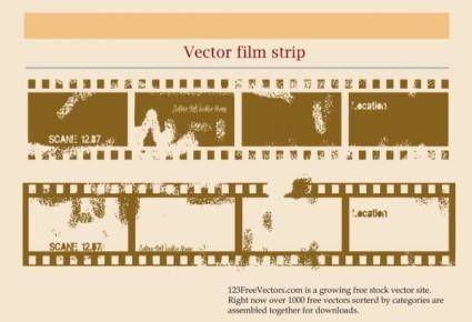 Mottled old film vector