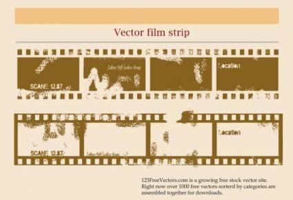 free vector Mottled old film vector