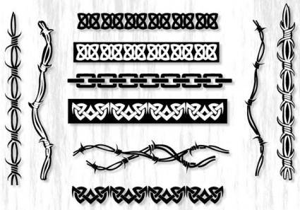free vector Cool Tribal Borders