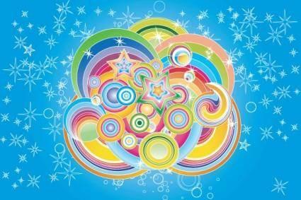 free vector Colorful Retro Design
