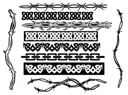 free vector Cool Tribal Borders