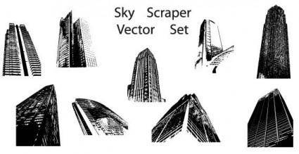 Sky scraper vector set