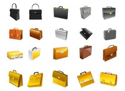 free vector The briefcase office supplies