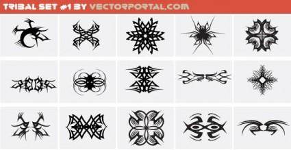 free vector Tribal set free vector