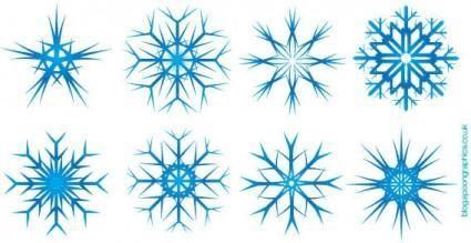 free vector Snowflakes vector
