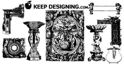 free vector Angelic design ornament