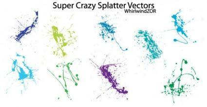 free vector Super crazy splatter vector