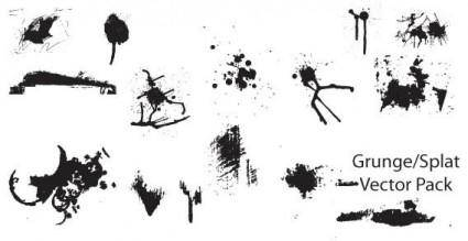 free vector Grunge and splatter vector pack