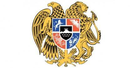 free vector Heraldic eagle, Armenia armories vector