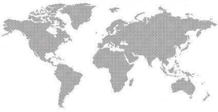 free vector Dotted World Map Vector