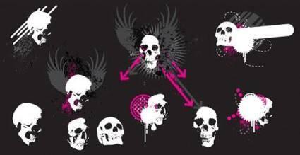 Vector skulls 13661