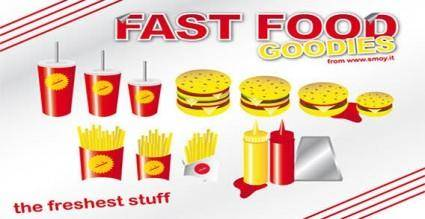 free vector Fast food goodies vector