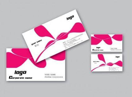 free vector Business card design template vector