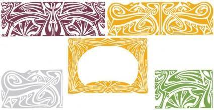 free vector Art frames vector