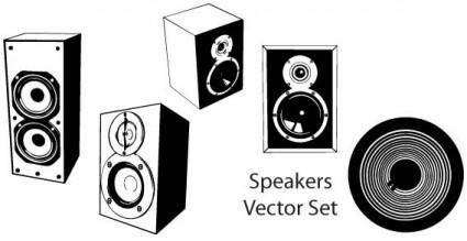 Speakers vector set