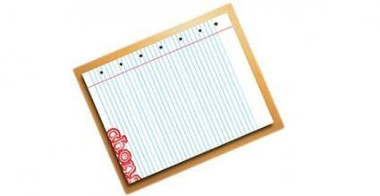 Piece of note book vector