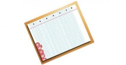 free vector Piece of note book vector