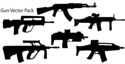 free vector Guns vector pack