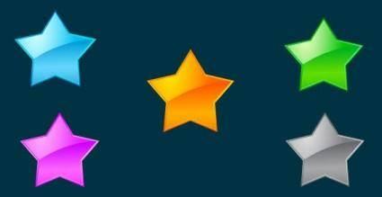 free vector Vector glass stars