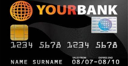 free vector Credit card vector