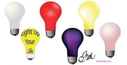 free vector Light bulbs vector