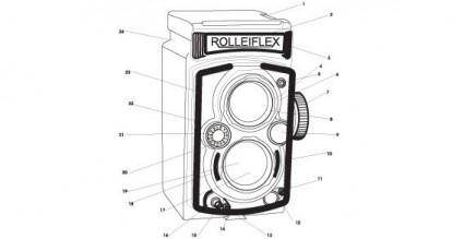 free vector Old Rolleiflex Automatic camera