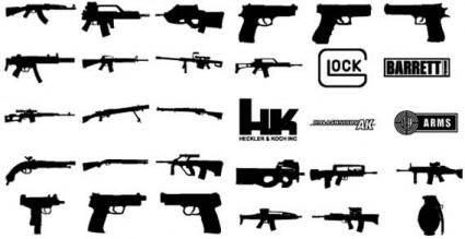 free vector Guns vector