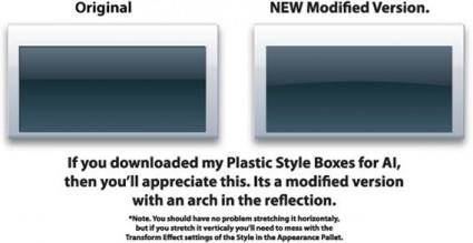 Vector plastic style boxes