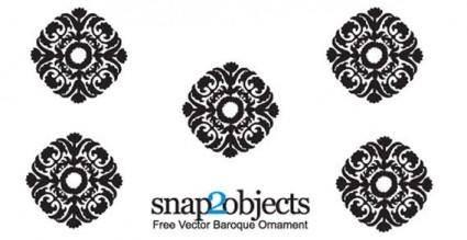 free vector Vector baroque ornament