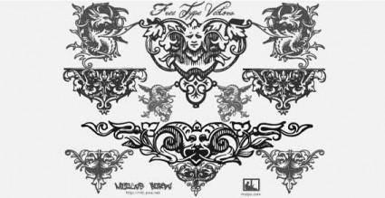 free vector Vector ornaments