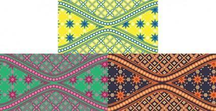 free vector Batik swatches