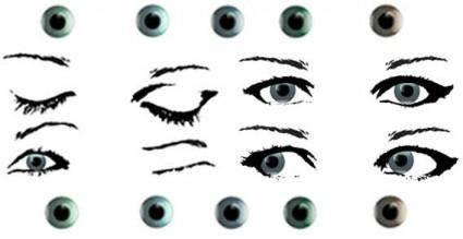 free vector Female eye stock free vector
