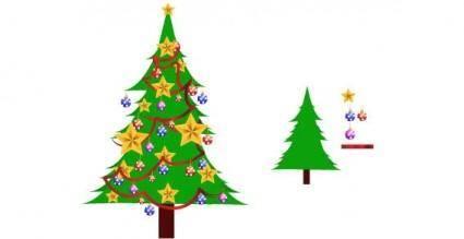Xmas tree free vector