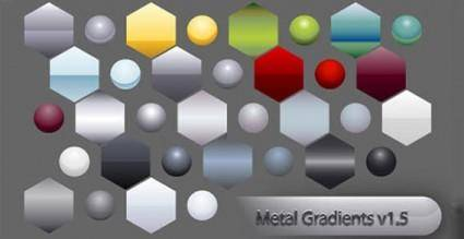free vector Metal gradient shape vector