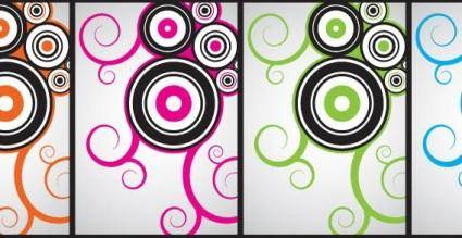 Circle and curly free vector