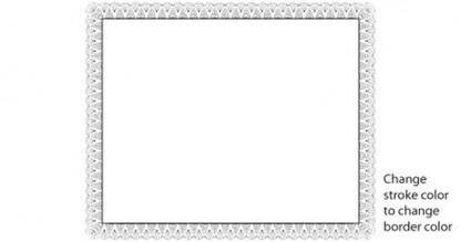 free vector Certificate border vector