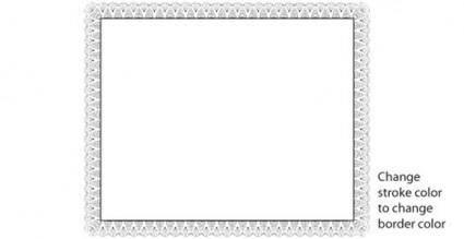 free vector Certificate border vector