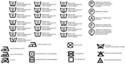 Care symbols vector