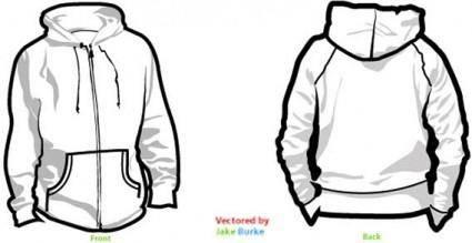 free vector Vector hoodie templates